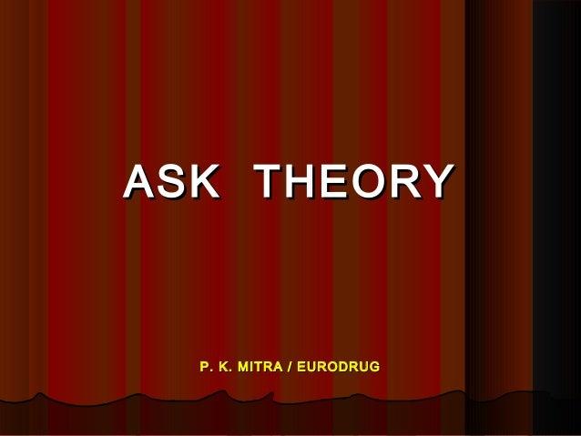 ASK THEORYASK THEORY P. K. MITRA / EURODRUGP. K. MITRA / EURODRUG