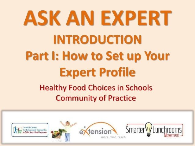 Ask an Expert: Set Up Profile