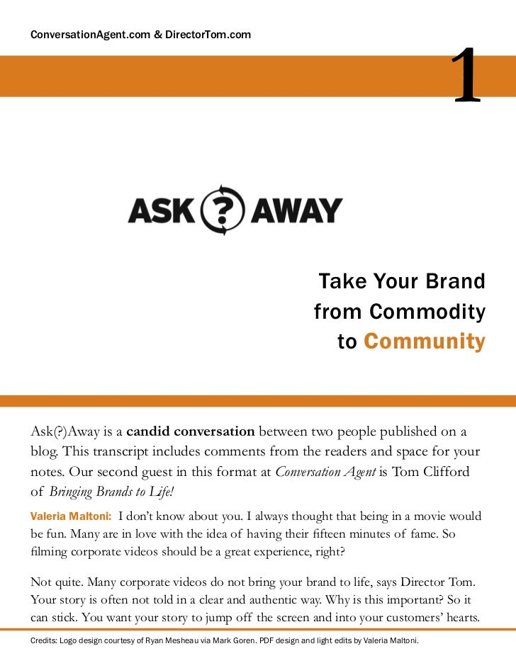 Take Your Brand From Commodity to Community