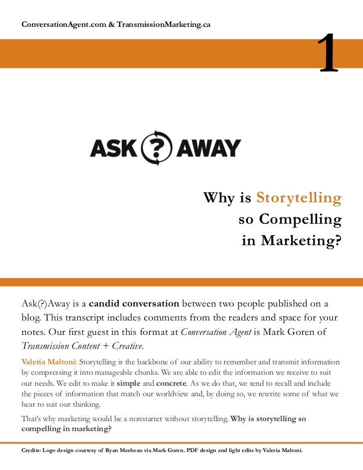 Why is Storytelling so Compelling in Marketing?