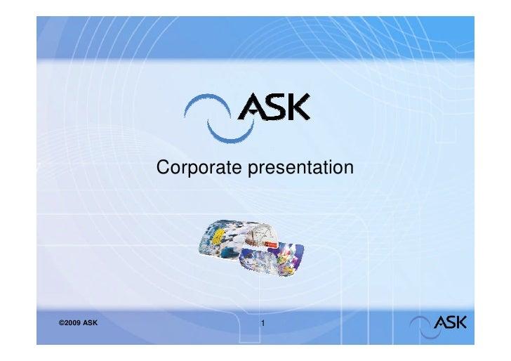 Ask   Corporate2009