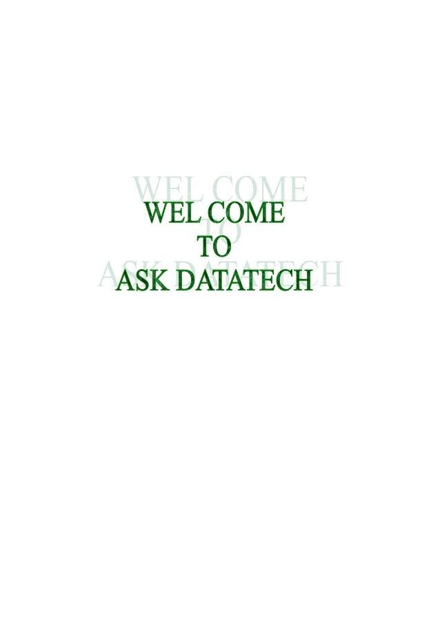 Ask datatech profile