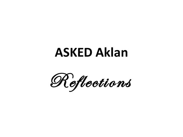 ASKED Aklan Reflections