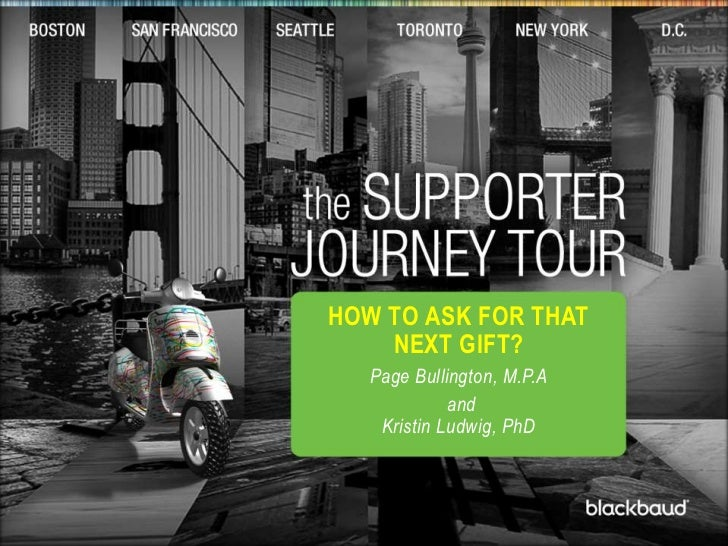 t<br />How to Ask for that Next Gift?<br />Page Bullington, M.P.A<br />andKristin Ludwig, PhD<br />