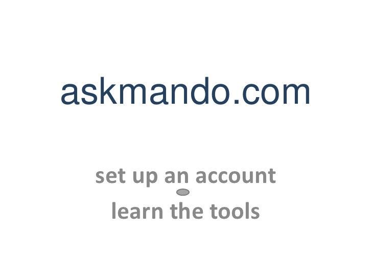 askmando.com-Getting Started