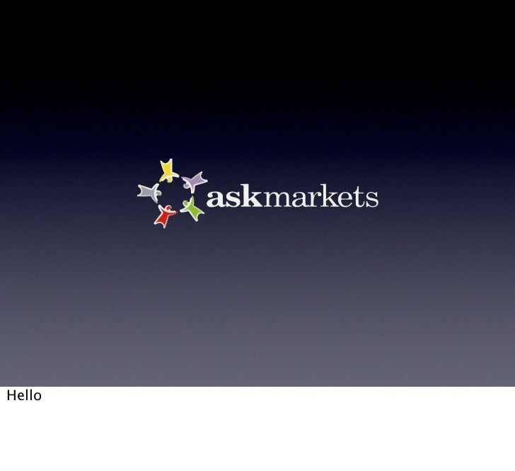 Presenting AskMarkets at the TechCrunch/OpenCoffee event in Athens