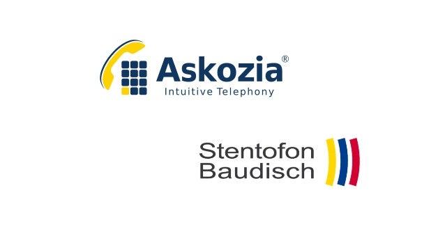 Agenda -Begrüßung -Vorstellung der Firma Stentofon Baudisch -Konfiguration eines Baudisch SIP-Türmodul PLUS - Produktpalett...
