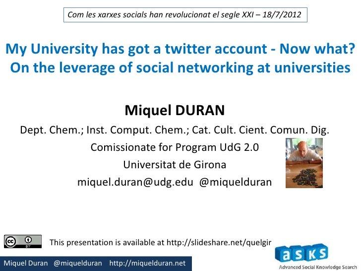 My university has twitter