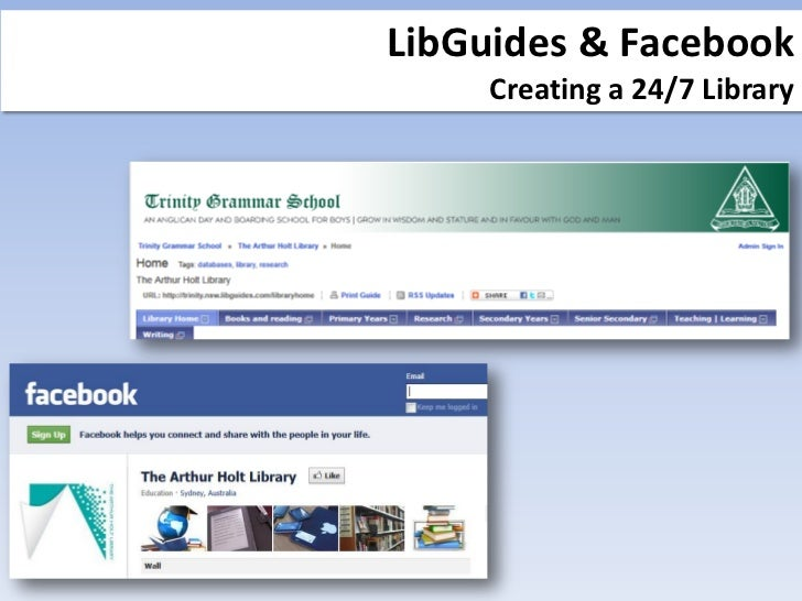 LibGuides and Facebook: Creating a 24/7 library