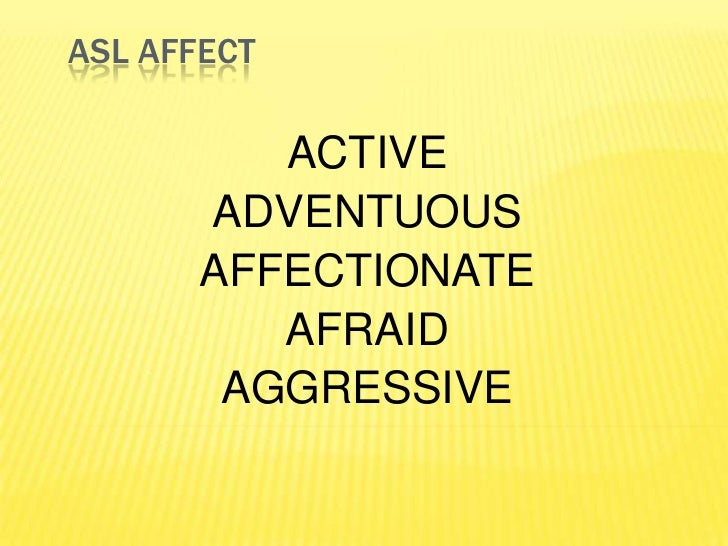 ASL Affect