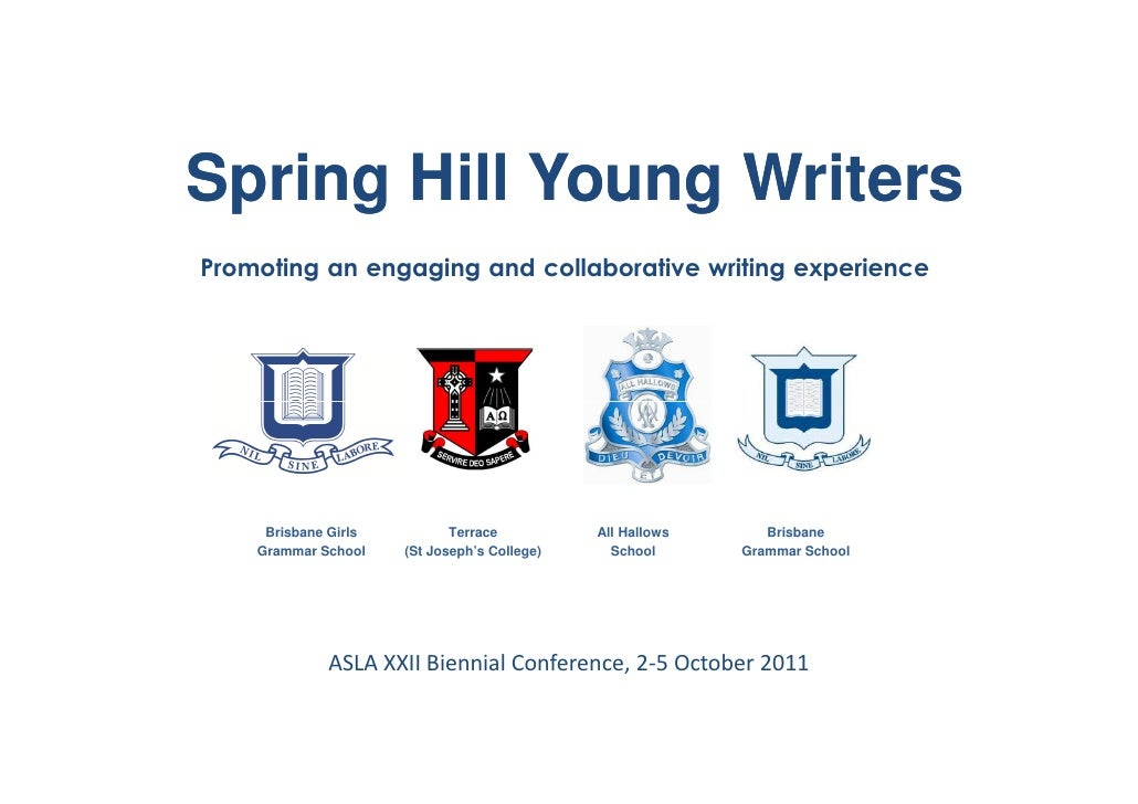 Spring Hill Young WritersPromoting an engaging and collaborative writing experience     Brisbane Girls          Terrace   ...