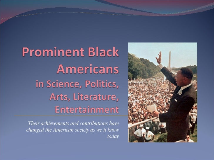 African-Americans and their achievements
