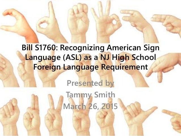 American sign language thesis