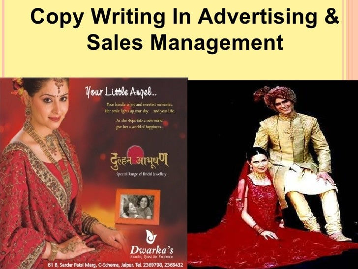 Copy Writing In Advertising & Sales Management