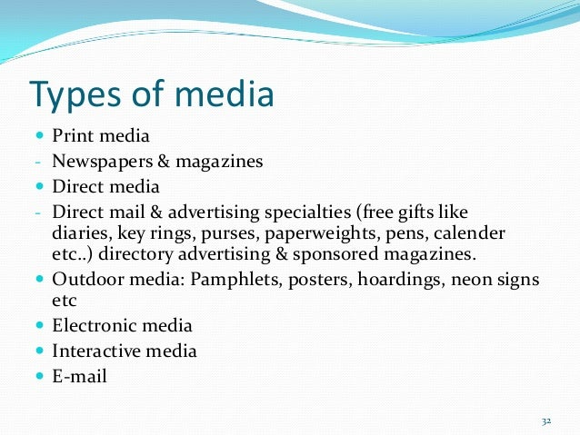 different forms of advertising 02072015 Advertising is a key marketing strategy for many businesses there are several  types of media that are effective for advertising, including.