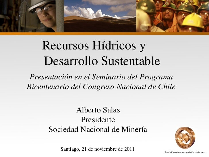 Recursos Hídricos y Desarrollo Sustentable - Sociedad Nacional de Minería