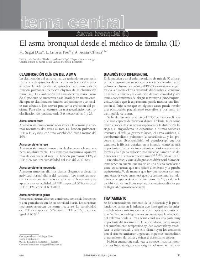 CLASIFICACIÓN CLÍNICA DEL ASMA La clasificación del asma se realiza teniendo en cuenta la frecuencia de episodios de asma ...