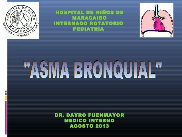 Asma bronquial dr dayro fuenmayor