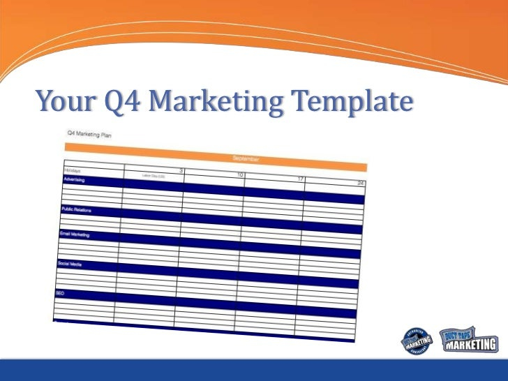 Your Q4 Marketing Template