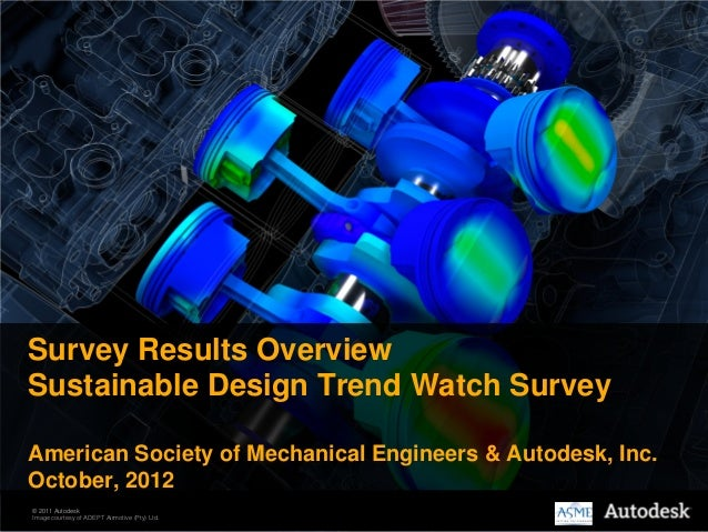 Survey Results OverviewSustainable Design Trend Watch SurveyAmerican Society of Mechanical Engineers & Autodesk, Inc.Octob...
