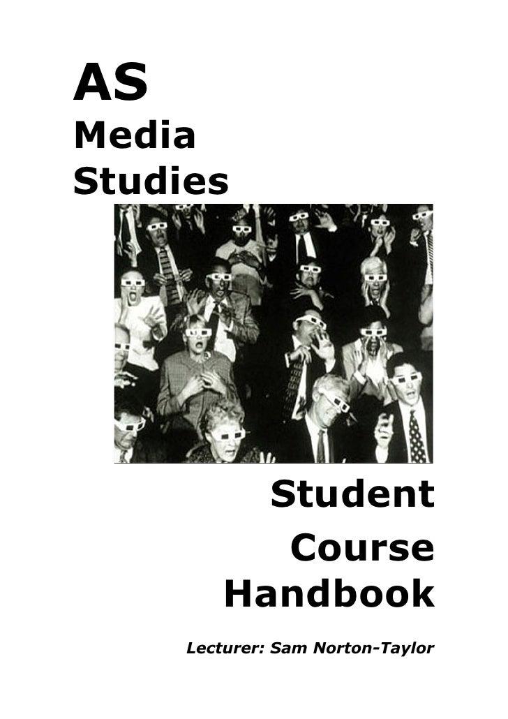 As Media Course Handbook 2009 10