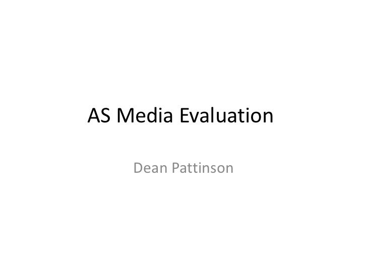 As media evaluation powerpoint