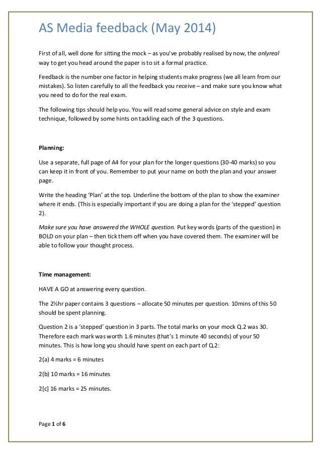 MS1 - AS media feedback May 2014
