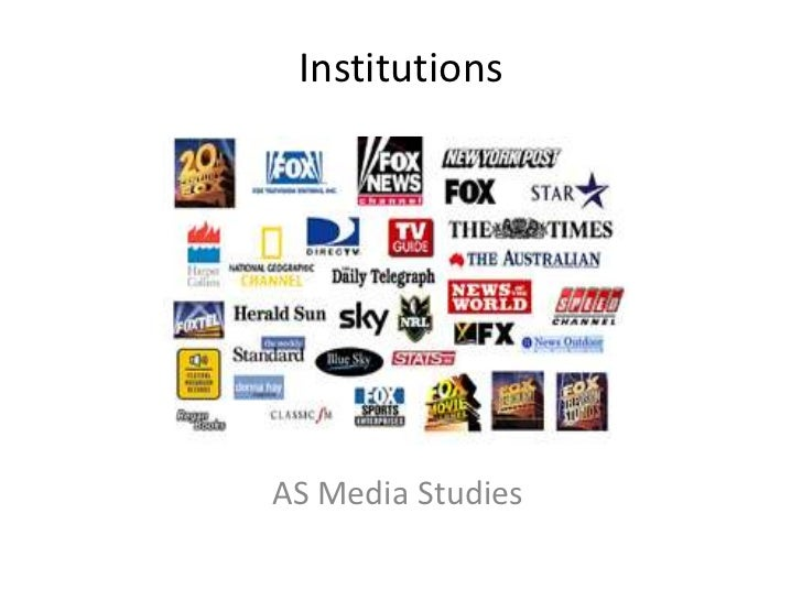As media institutions