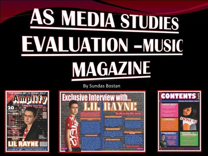 AS Media Studies - Music Magazine Evaluation