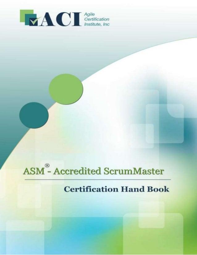 Accredited Scrum Master (ASM®) Handbook