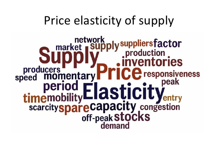 price elasticity of demand and supply essay