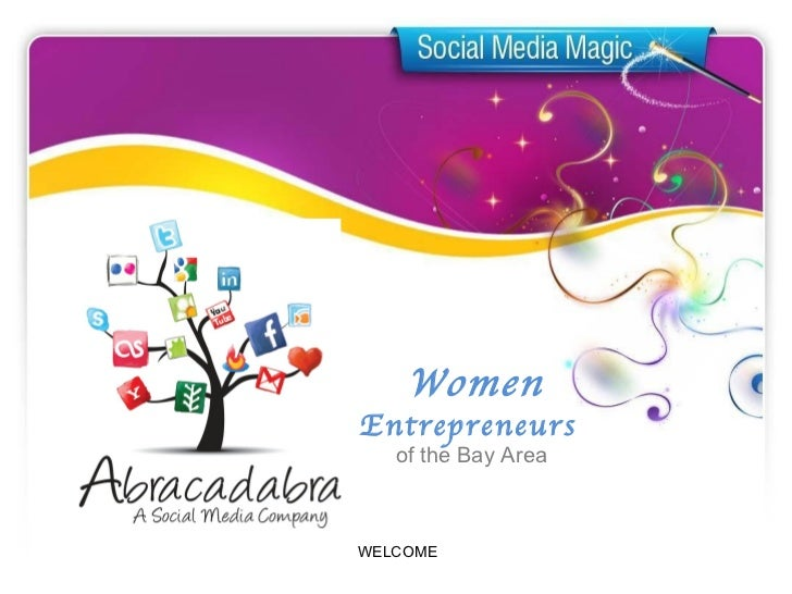 Abracadabra Social Media Pinterest Presentation to WEBA (Women Entrepenuers of the Bay Area