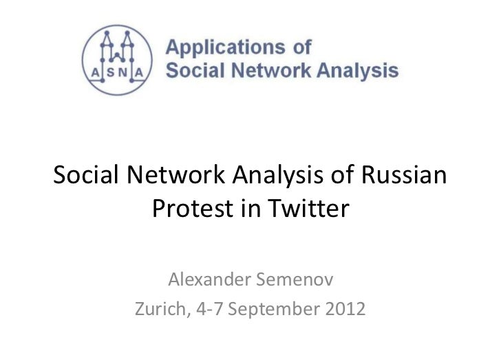 Social network analysis of Twitter hashtag usage during protest meetings in Russia