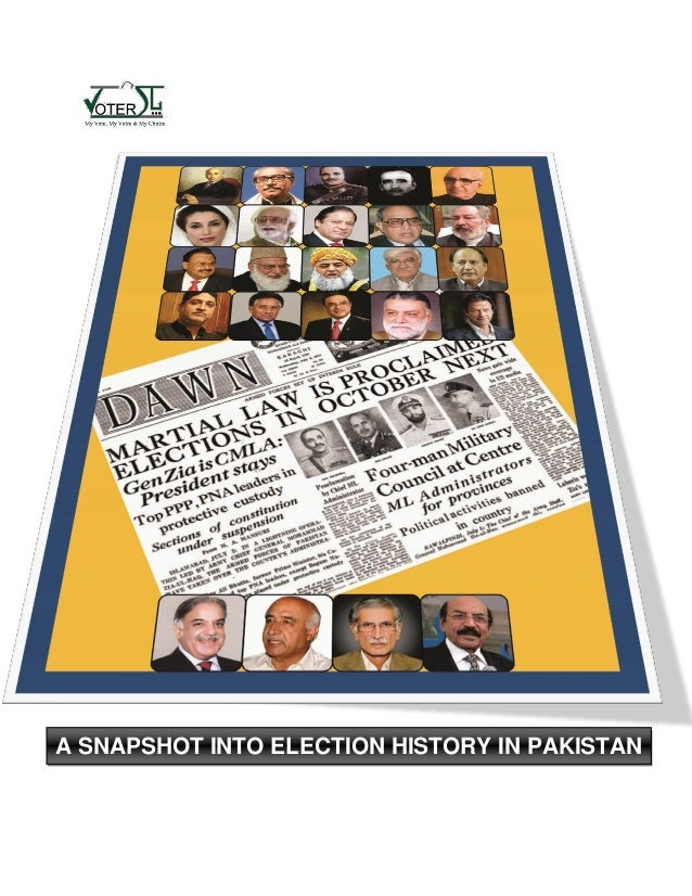 A snapshot into election history in pakistan