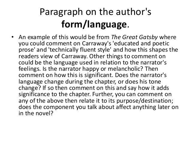 Essay prose form