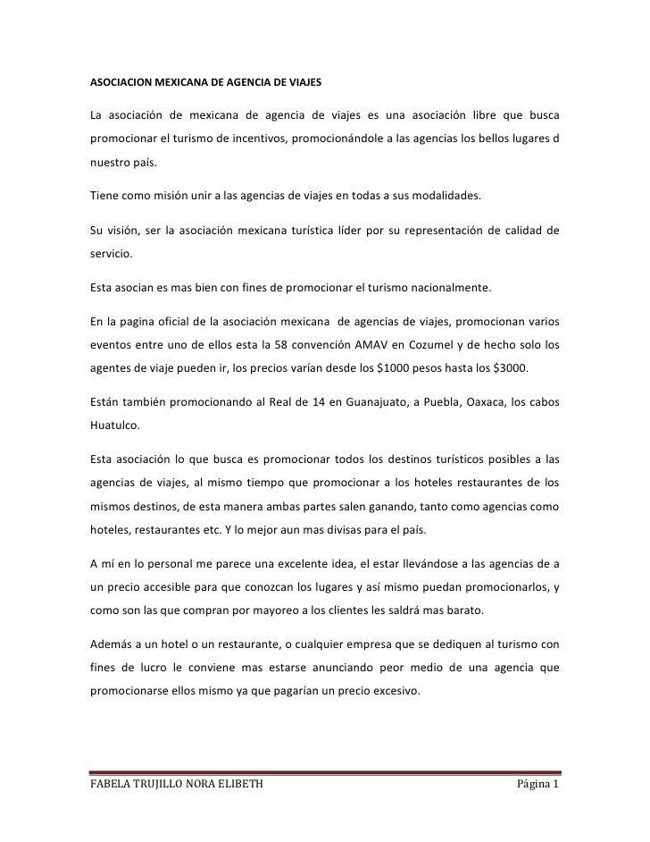 Asociacion mexicana de agencia de viajes