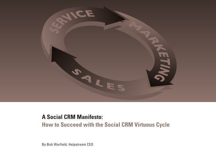 A Social CRM Manifesto: How to Succeed with the Social CRM Virtuous Cycle   By Bob Warfield, Helpstream CEO