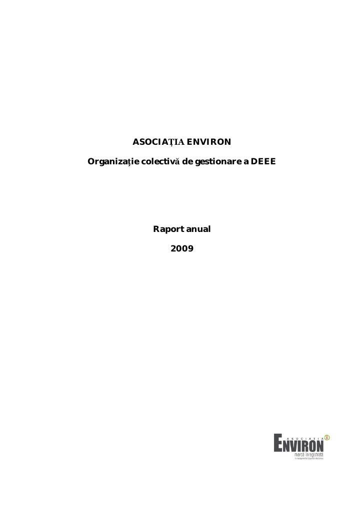 Asociatia Environ Raport Anual 2009