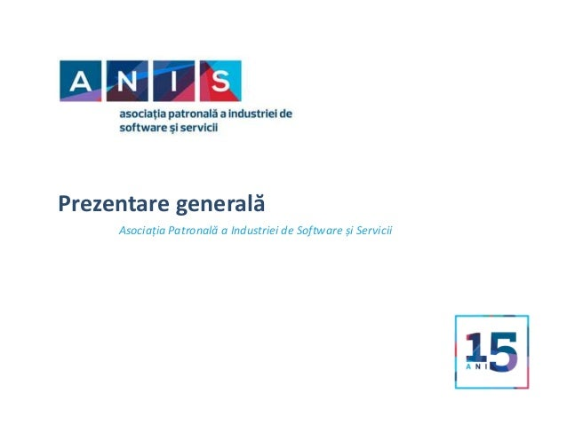 Prezentare generală Asociația Patronală a Industriei de Software și Servicii