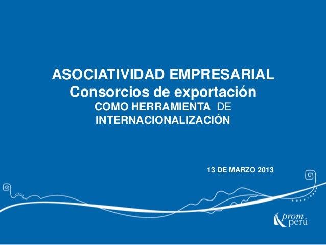 SIICEX - Asociatividad 2013