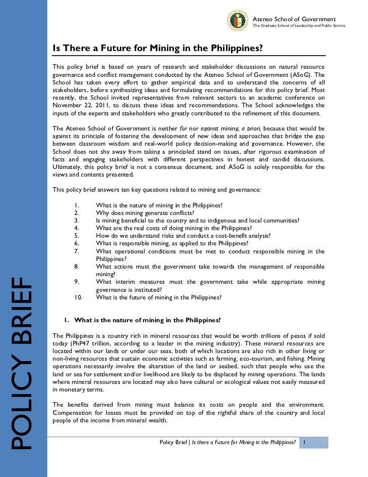 ASoG Mining Policy Brief