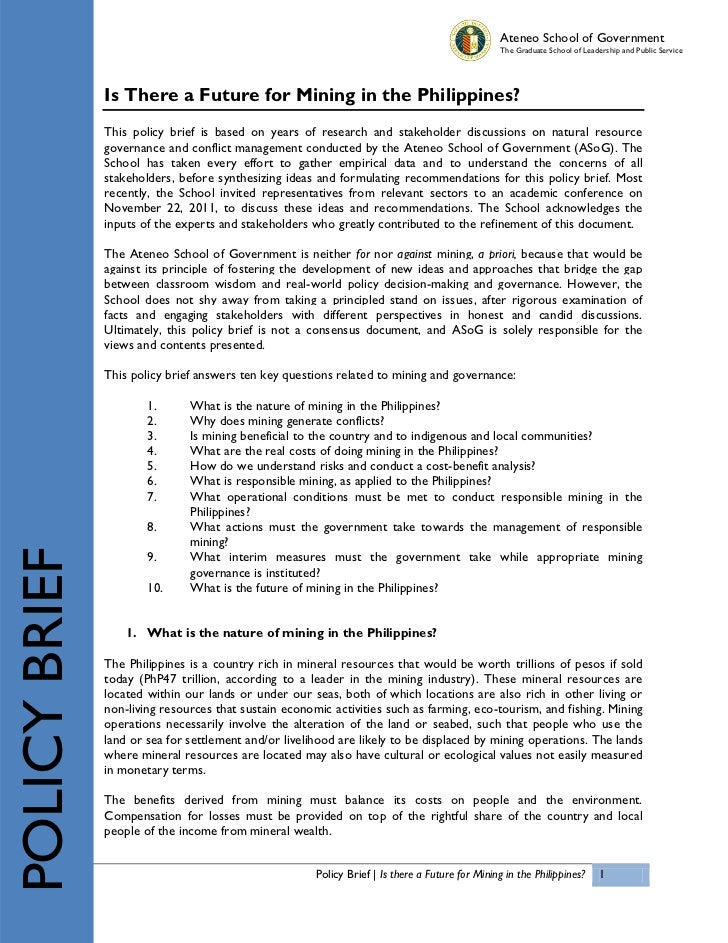 ASoG Mining Policy Brief