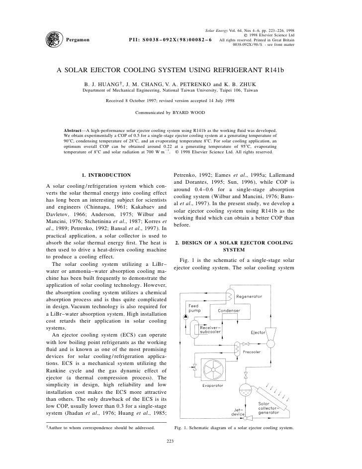 Solar Energy Vol. 64, Nos 4–6, pp. 223–226, 1998                                                                          ...