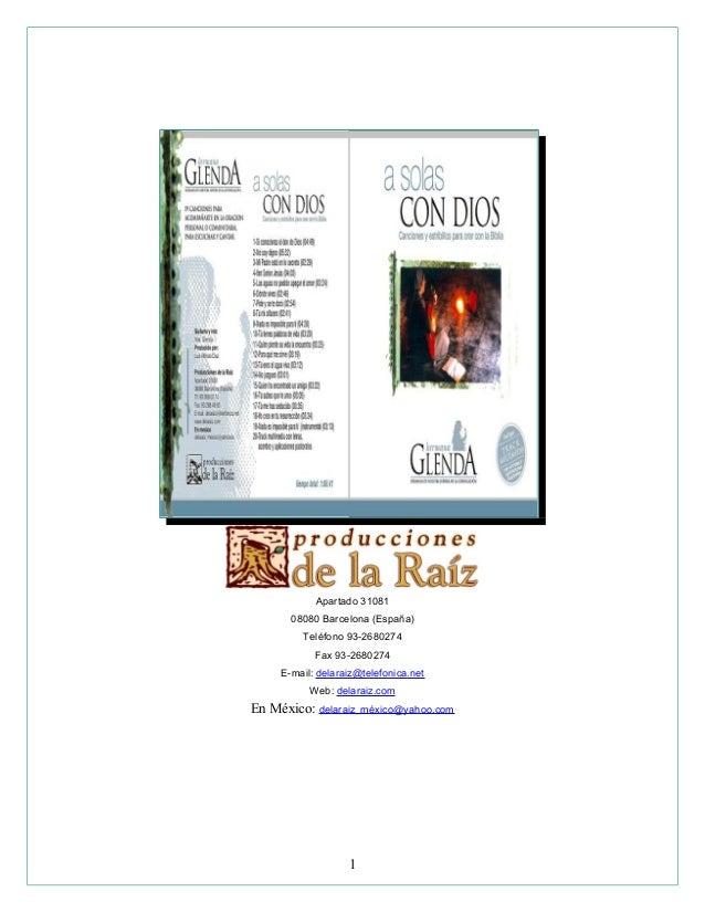 Apartado 31081 08080 Barcelona (España) Teléfono 93-2680274 Fax 93-2680274 E-mail: delaraiz@telefonica.net Web: delaraiz.c...