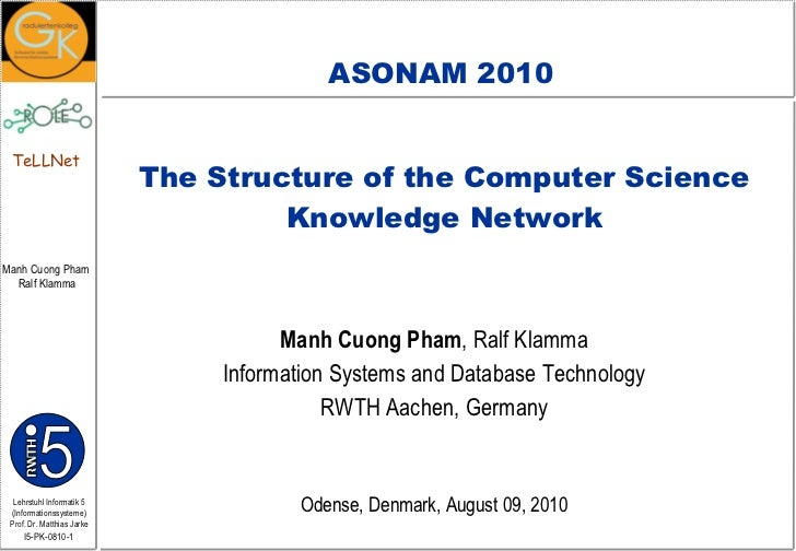 The Structure of Computer Science Knowledge Network