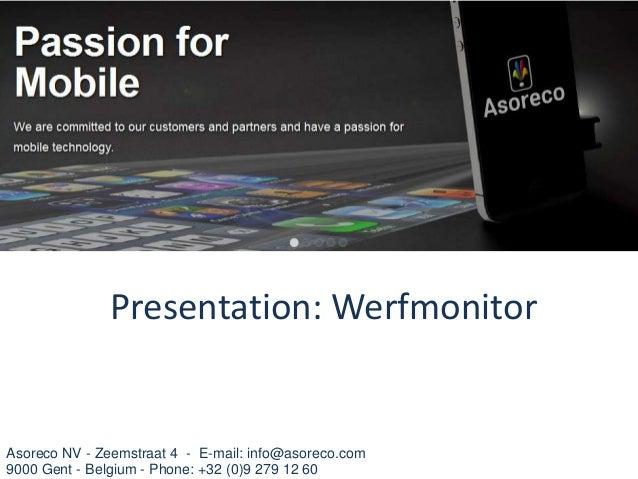 Asoreco presentatie werfmonitor_v5