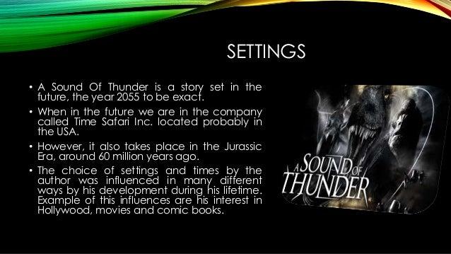 essay on sound of thunder