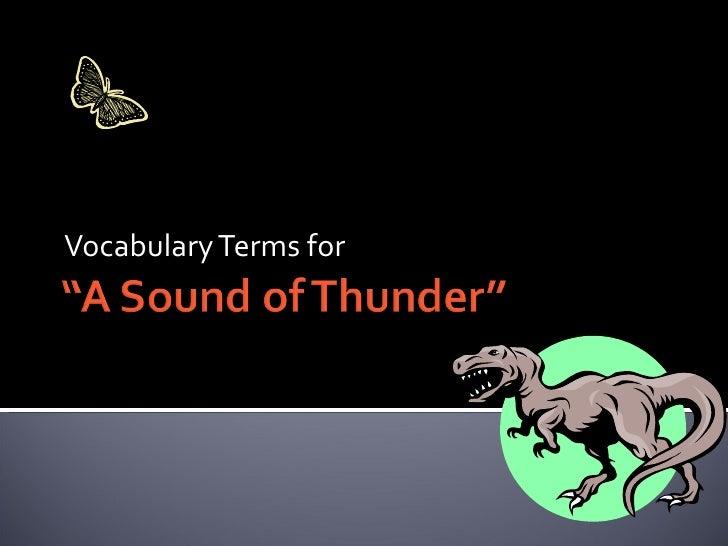 Vocabulary Terms for