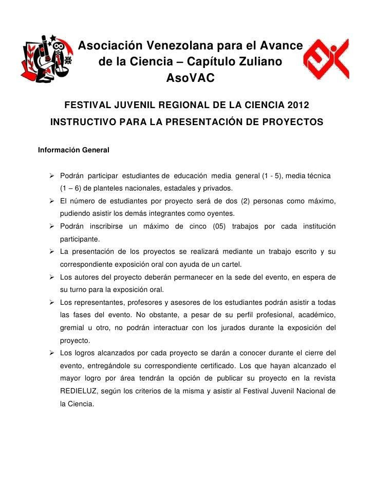 Asociación Venezolana para el Avance             de la Ciencia – Capítulo Zuliano                         AsoVAC       FES...