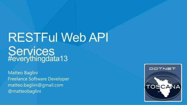 RESTFul Web API Services @ DotNetToscana